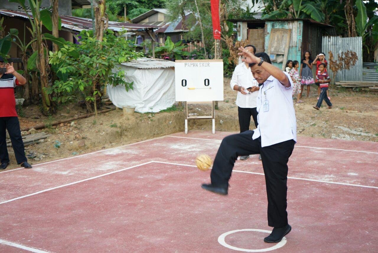 Penjabat Walikota Tanjungpinang Buka Turnamen Takraw Kampung Bulang