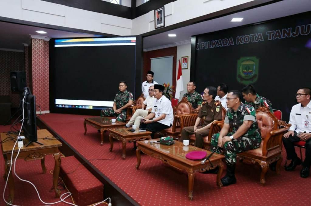Video Conference Pj. Wali Kota ke Kemendagri Pilkada di Tanjungpinang Aman