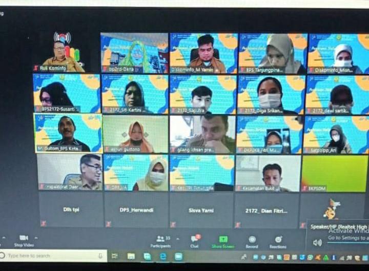 Dinas Kominfo dan BPS Tanjungpinang Berikan Pembinaan Statistik Bagi Operator Data OPD