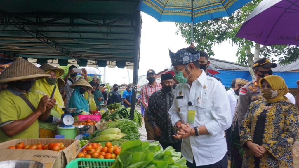 Mentan Mengunjungi Gerai Pangan DP3 Tanjungpinang
