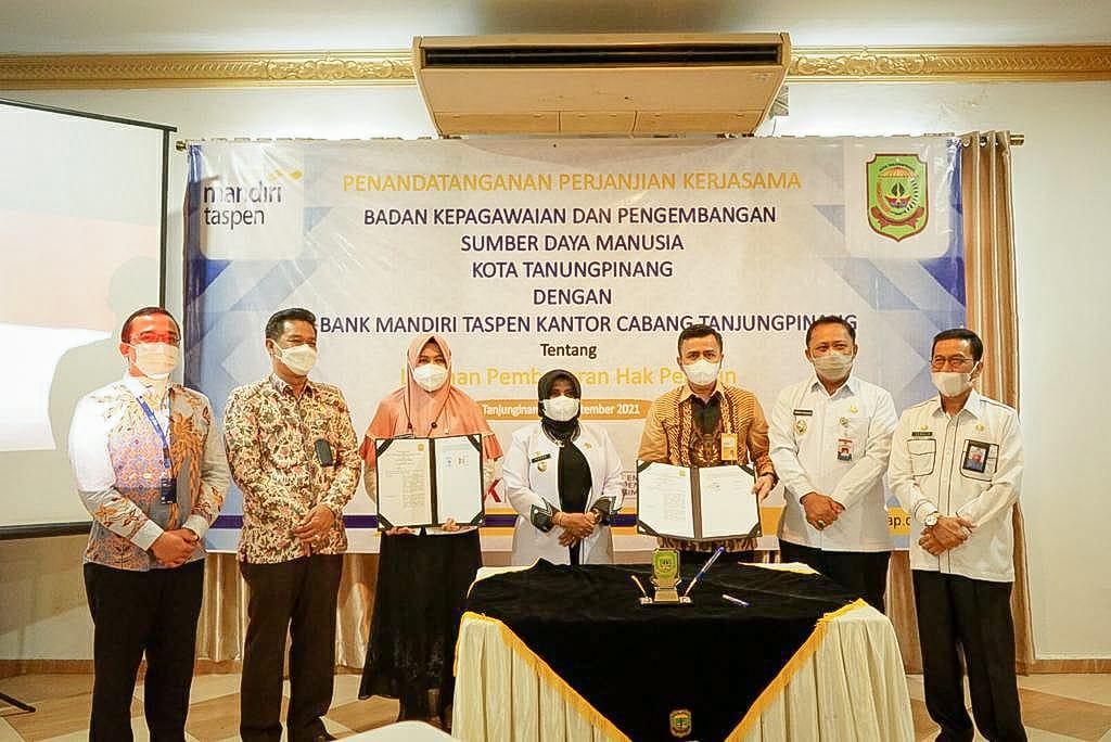 Pemko Tanjungpinang dan PT Bank Mandiri Taspen Jalin Kerja Sama Pembayaran Pensiun